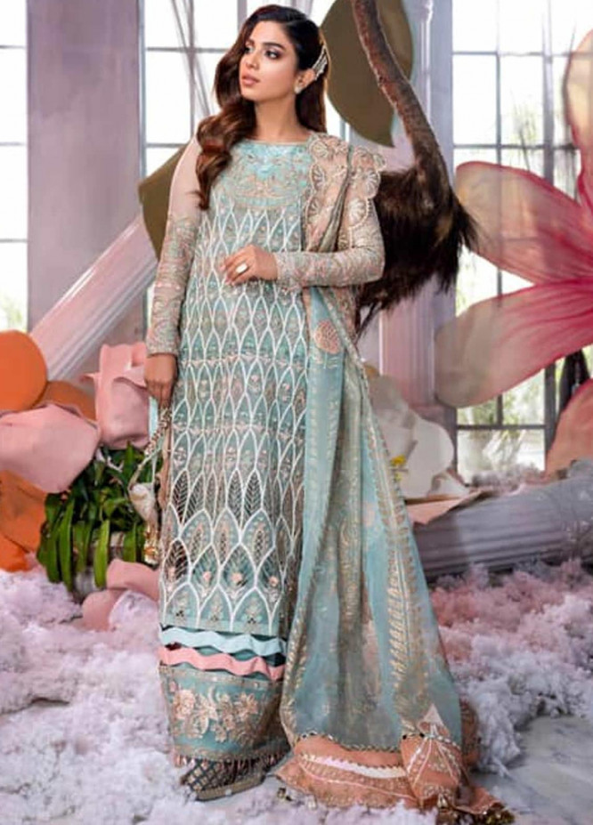 Shiza Hassan Embroidered Organza Unstitched 3 Piece Suit SH21LF 06 Lustre - Luxury Collection