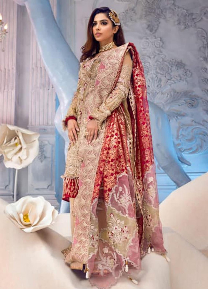 Shiza Hassan Embroidered Zari Net Unstitched 3 Piece Suit SH21LF 07 Mystique - Luxury Collection