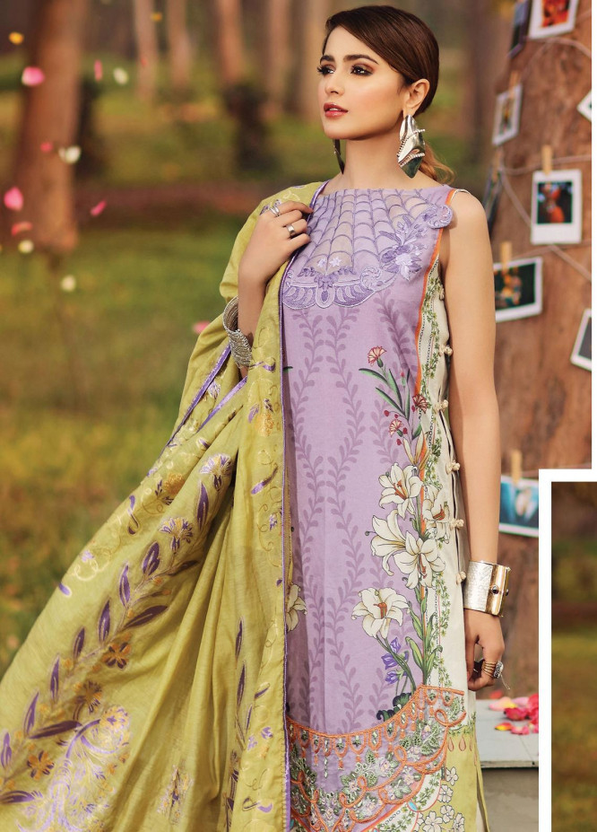 Shiza Hassan Embroidered Lawn Unstitched 3 Piece Suit SH20L 4-B LILLY SYMPHONY - Luxury Collection