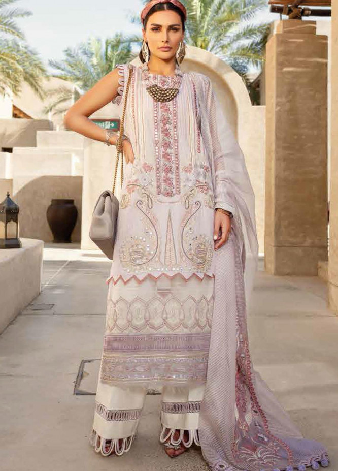 Shiza Hassan Embroidered Lawn Suits Unstitched 3 Piece SH21LL 01-B AARA - Luxury Collection