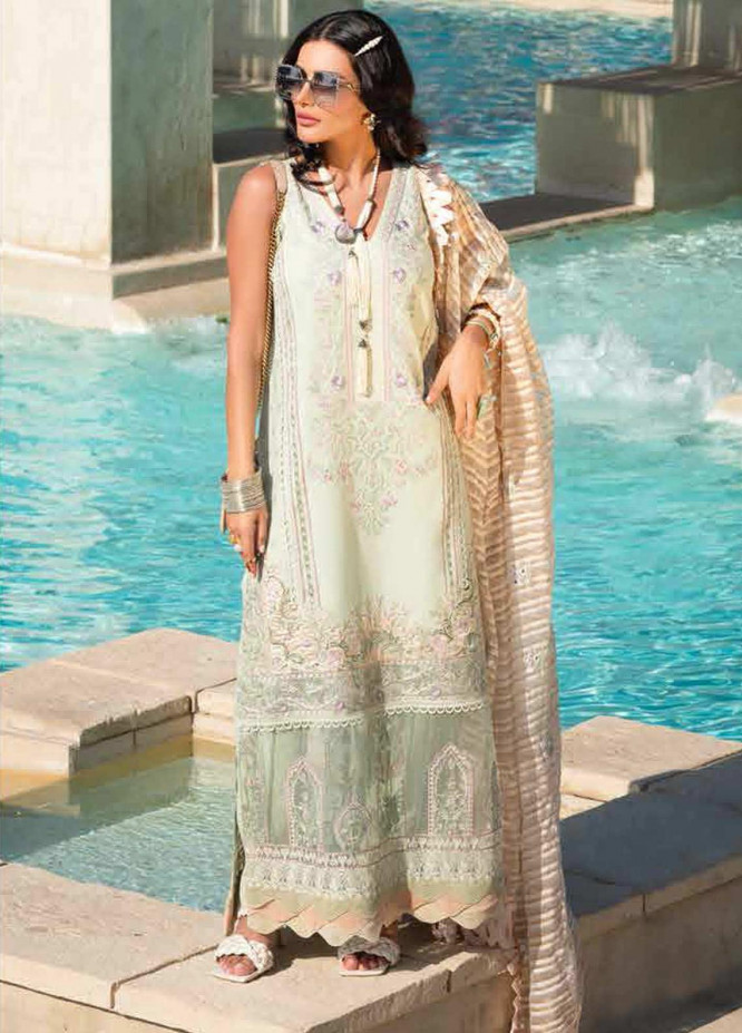 Shiza Hassan Embroidered Lawn Suits Unstitched 3 Piece SH21LL 02-A JAHARA - Luxury Collection