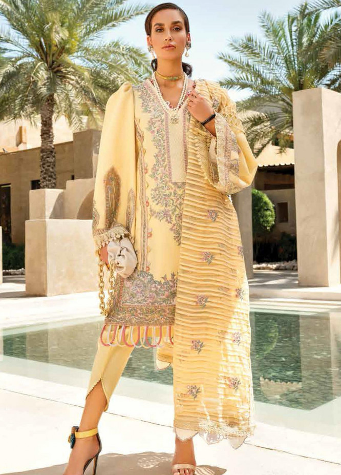 Shiza Hassan Embroidered Lawn Suits Unstitched 3 Piece SH21LL 02-B JAHARA - Luxury Collection