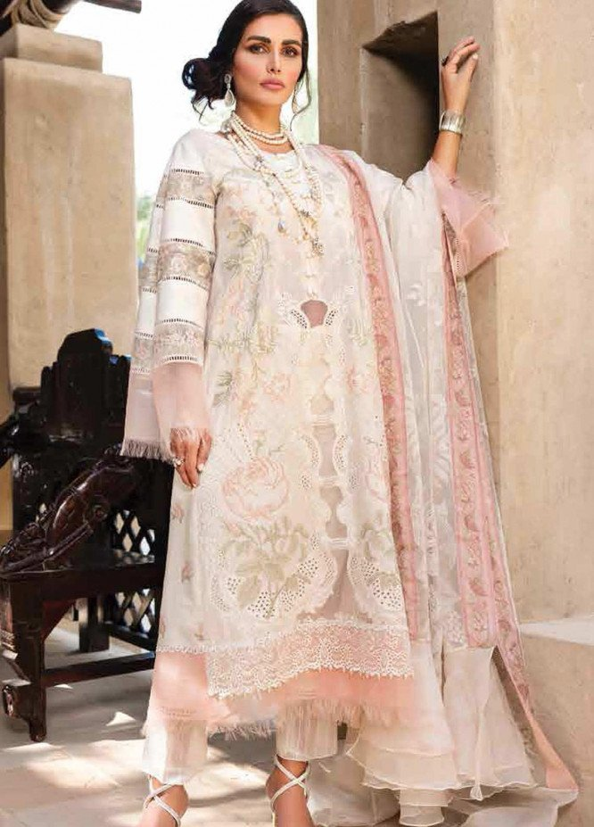 Shiza Hassan Embroidered Lawn Suits Unstitched 3 Piece SH21LL 03-A HEER - Luxury Collection
