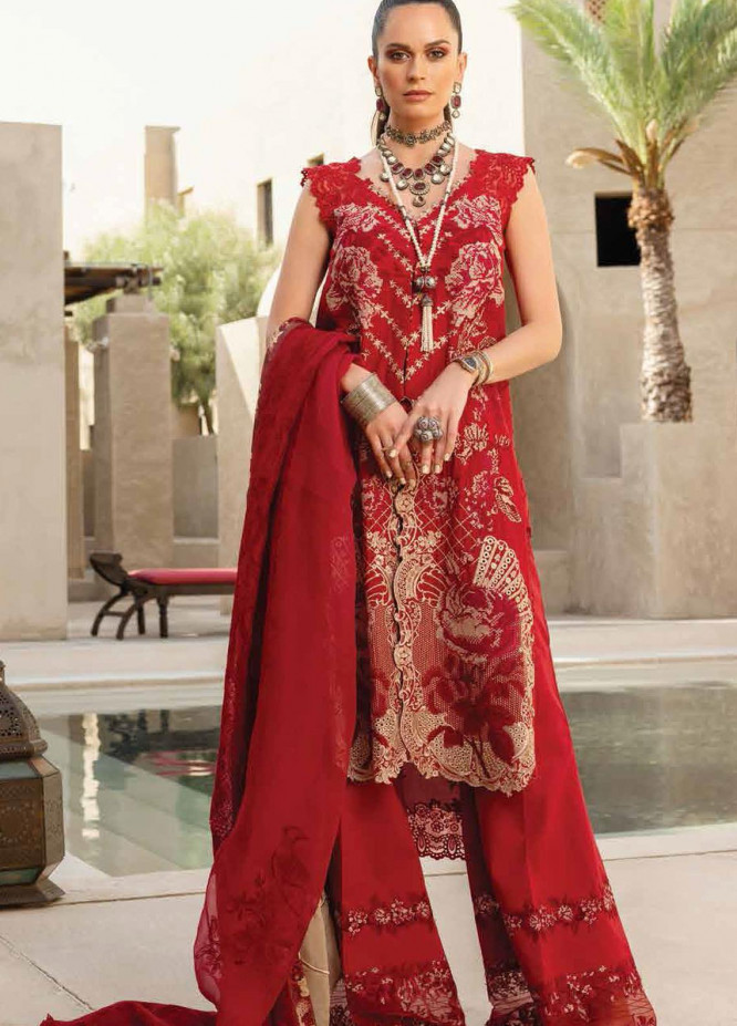 Shiza Hassan Embroidered Lawn Suits Unstitched 3 Piece SH21LL 03-B HEER - Luxury Collection