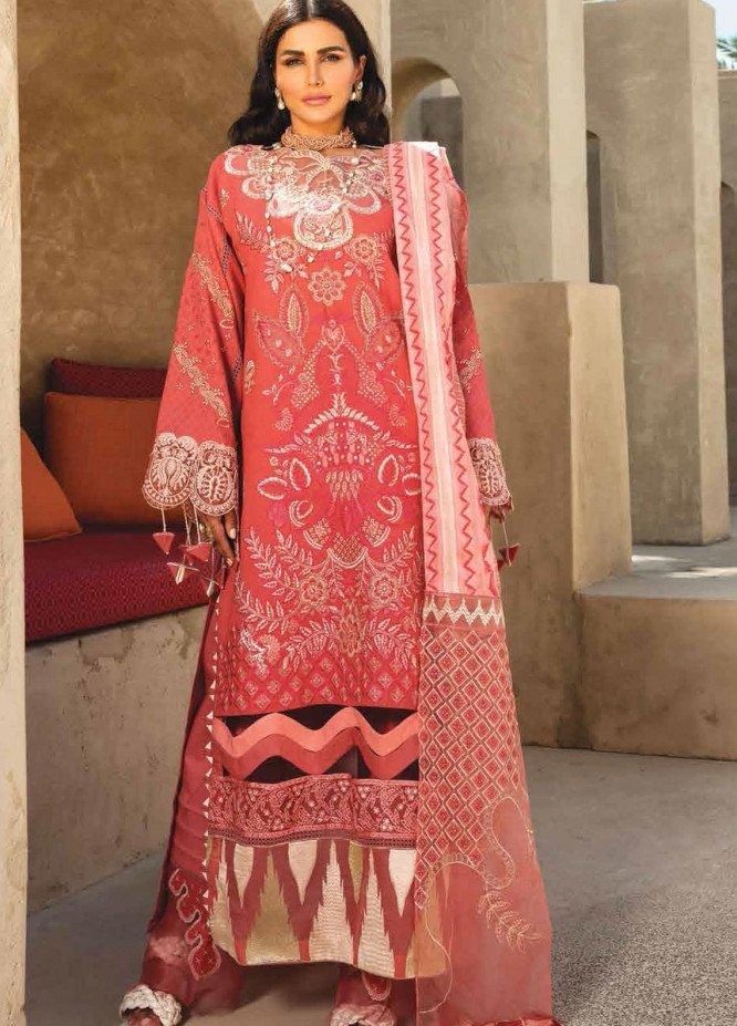 Shiza Hassan Embroidered Lawn Suits Unstitched 3 Piece SH21LL 04-A NOOR - Luxury Collection