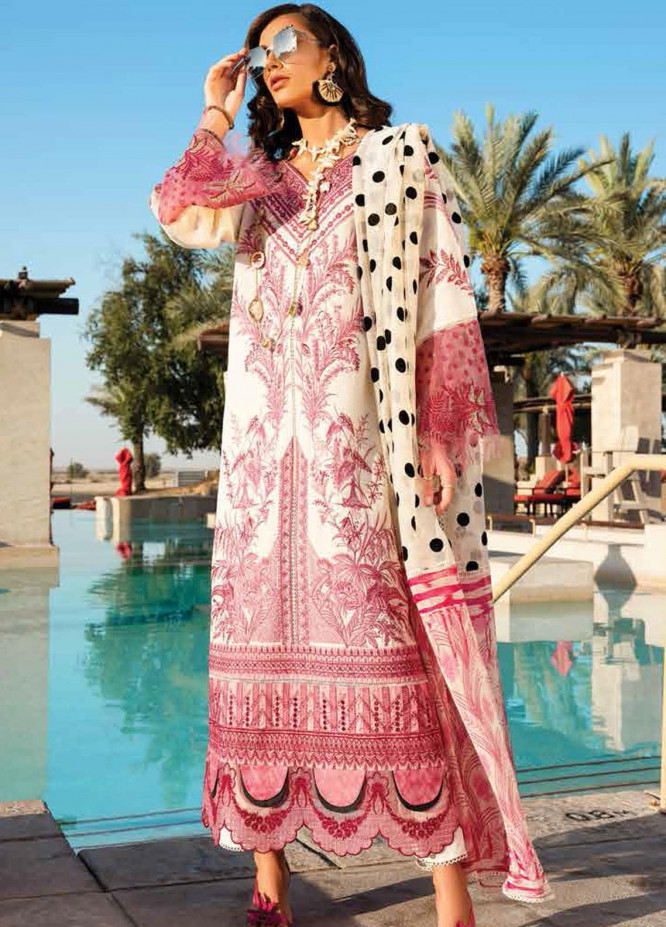 Shiza Hassan Embroidered Lawn Suits Unstitched 3 Piece SH21LL 05-A PARIZA - Luxury Collection