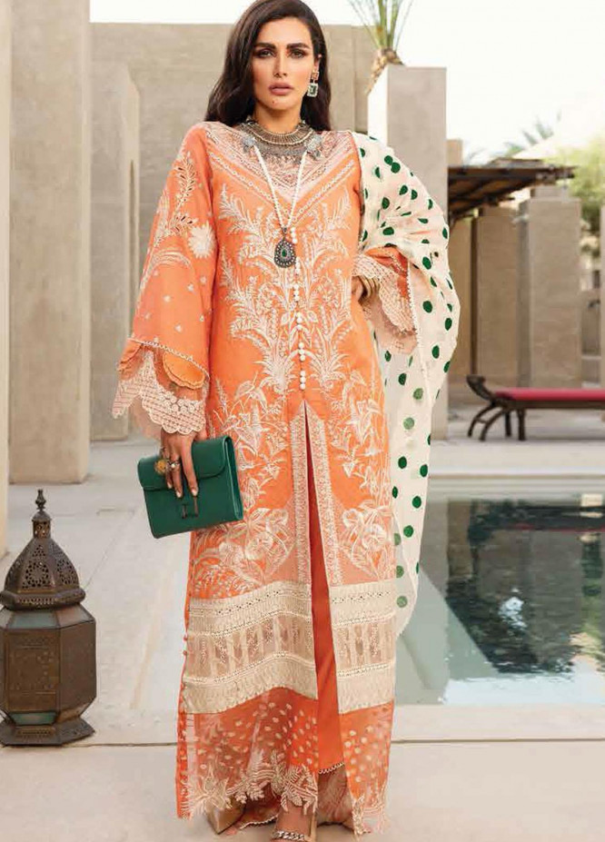 Shiza Hassan Embroidered Lawn Suits Unstitched 3 Piece SH21LL 05-B PARIZA - Luxury Collection