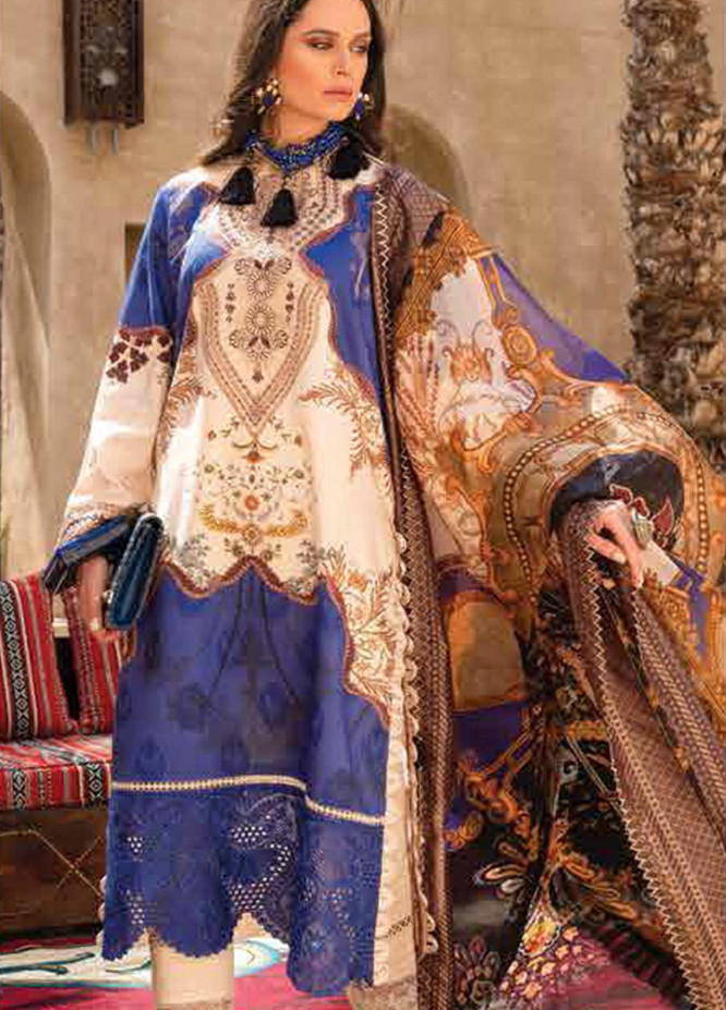 Shiza Hassan Embroidered Lawn Suits Unstitched 3 Piece SH21LL 06-A MAYA - Luxury Collection