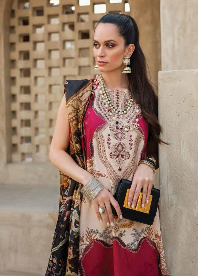 Shiza Hassan Embroidered Lawn Suits Unstitched 3 Piece SH21LL 06-B MAYA - Luxury Collection