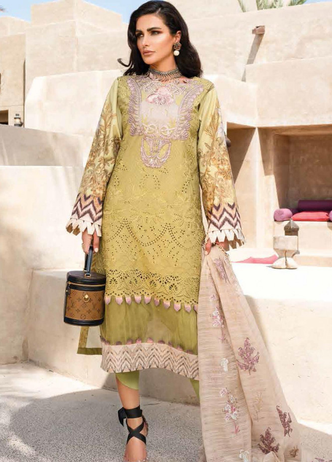 Shiza Hassan Embroidered Lawn Suits Unstitched 3 Piece SH21LL 07-A ARIANA - Luxury Collection