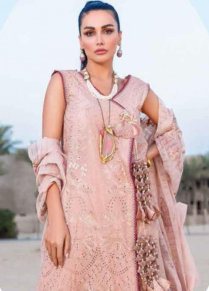Shiza Hassan Embroidered Lawn Suits Unstitched 3 Piece SH21LL 07-B ARIANA - Luxury Collection