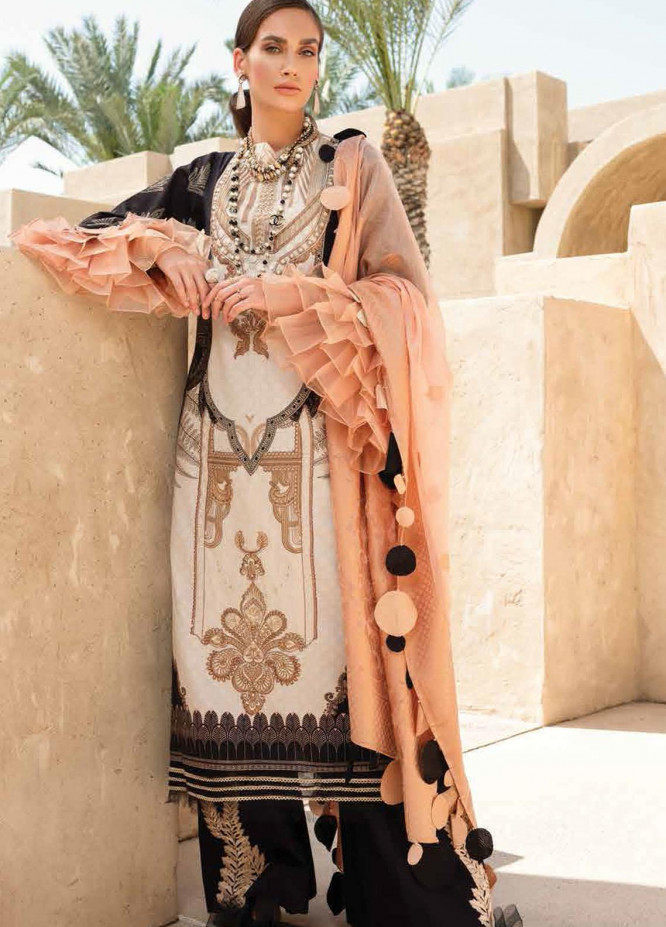 Shiza Hassan Embroidered Lawn Suits Unstitched 3 Piece SH21LL 09-A FATIN - Luxury Collection