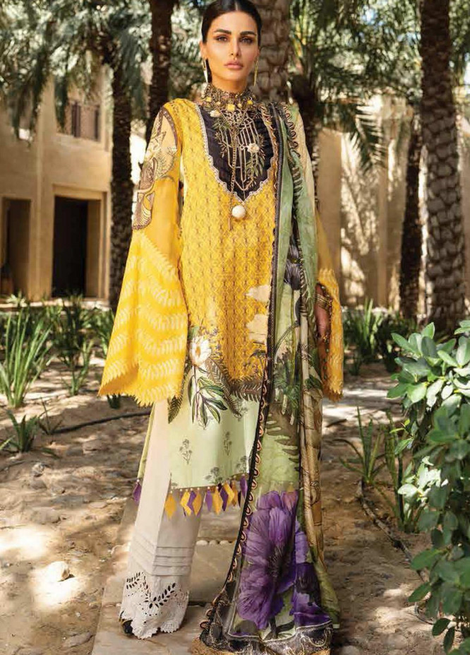 Shiza Hassan Embroidered Lawn Suits Unstitched 3 Piece SH21LL 10-B LIYANA - Luxury Collection