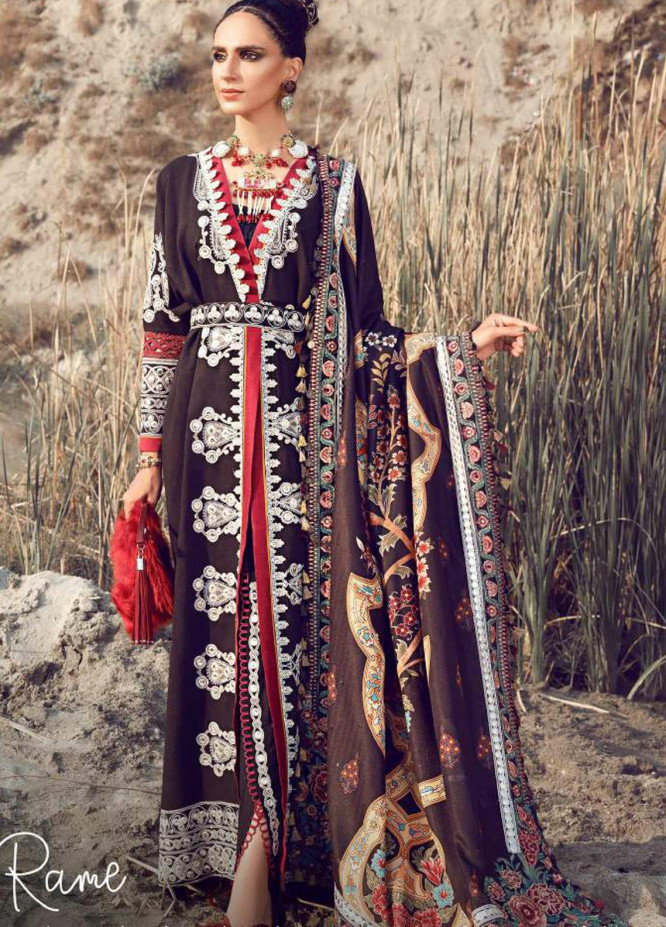 Shiza Hassan Embroidered Jacquard Unstitched 3 Piece Suit SH21W 002 Rame - Winter Collection