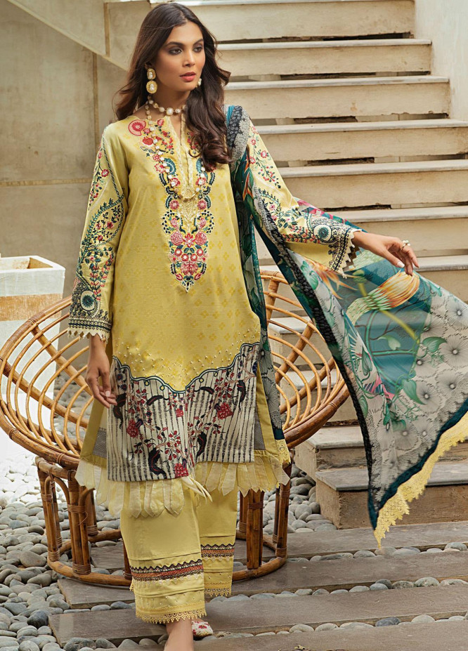 Shurooq Embroidered Lawn Suits Unstitched 3 Piece SHQ21L SL-01-03 Naureza - Summer Collection