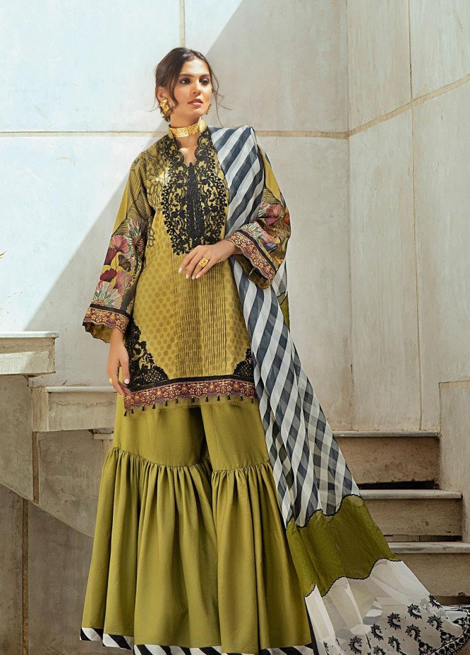 Shurooq Embroidered Lawn Suits Unstitched 3 Piece SHQ21L SL-01-04 Manara - Summer Collection