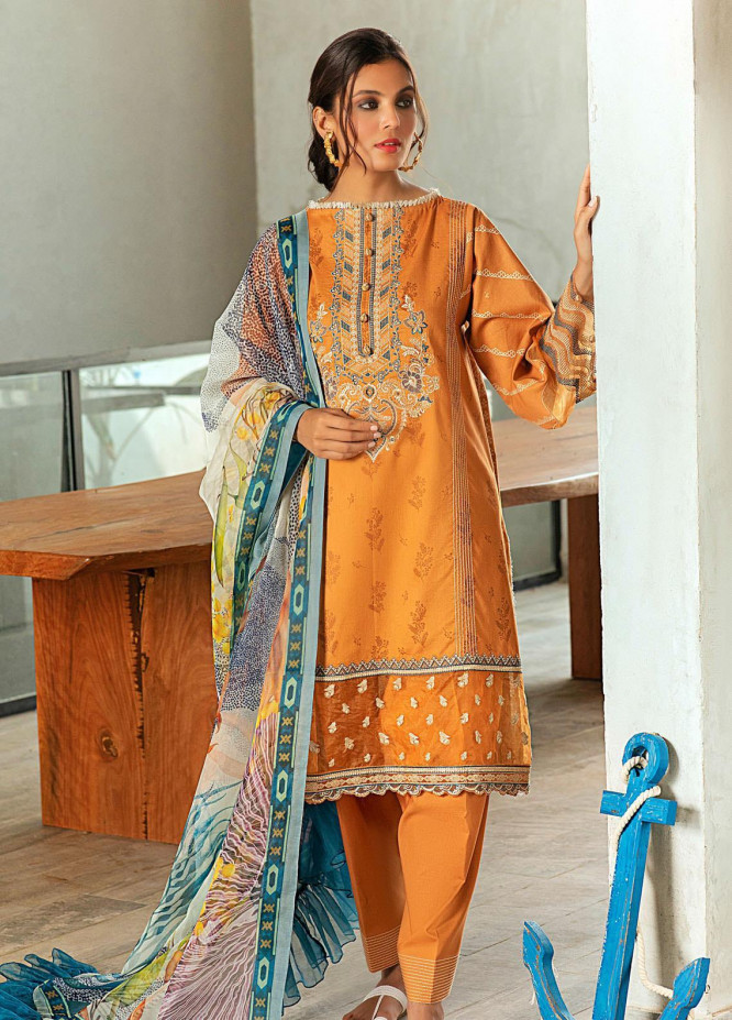 Shurooq Embroidered Lawn Suits Unstitched 3 Piece SHQ21L SL-01-06 Asbara - Summer Collection