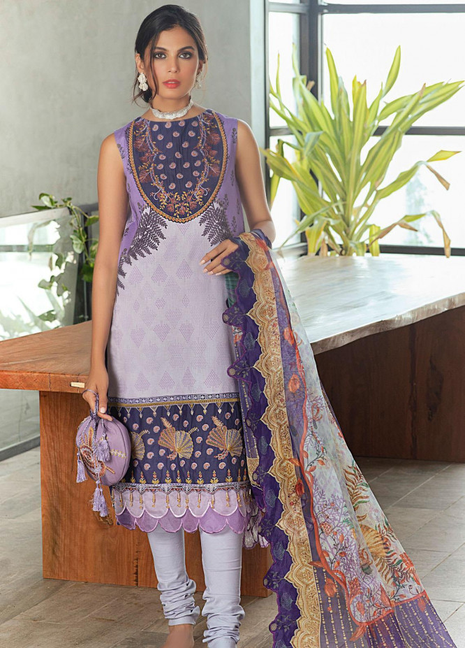 Shurooq Embroidered Lawn Suits Unstitched 3 Piece SHQ21L SL-01-07 Safana - Summer Collection