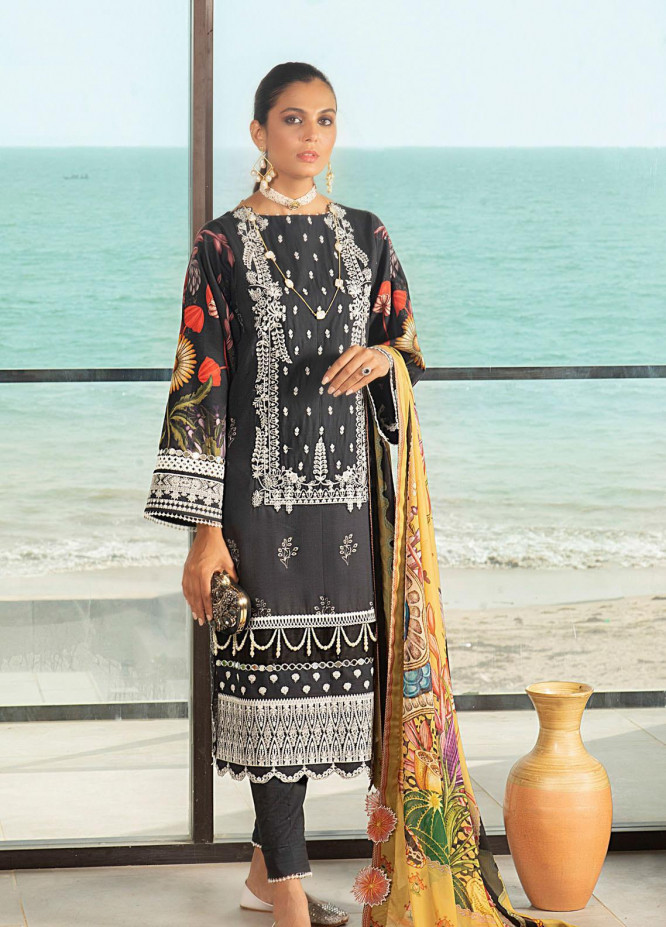 Shurooq Embroidered Lawn Suits Unstitched 3 Piece SHQ21L SL-01-08 Noormah - Summer Collection