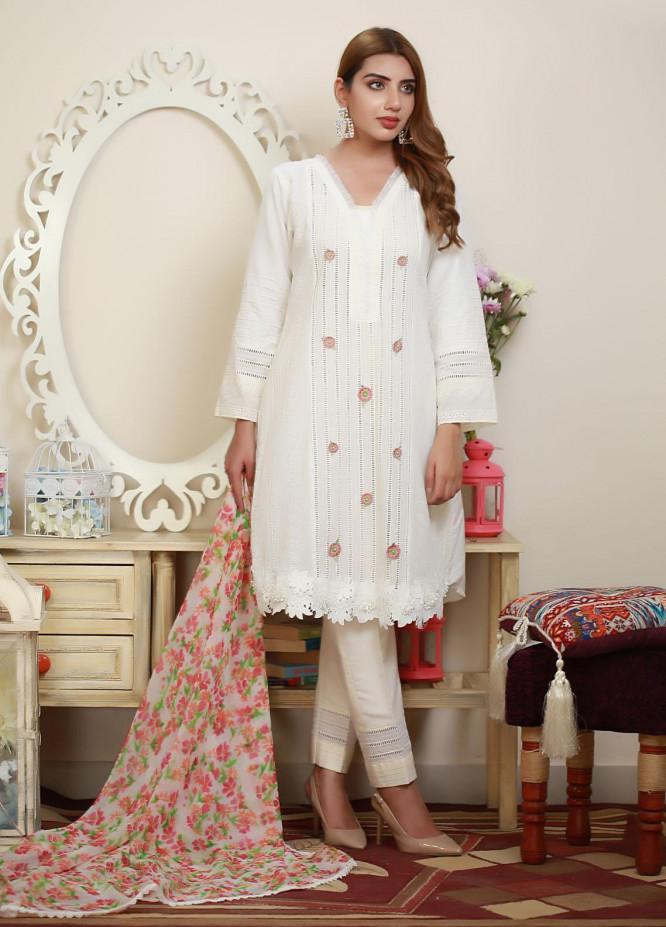 Sidra Mumtaz Luxury Pret  Raw Silk 2 Piece Suit Blossom