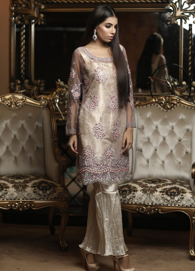 Sidra Mumtaz Embroidered Net Stitched 3 Piece Suit E-CM01-1705-CRYSTAL MELODY