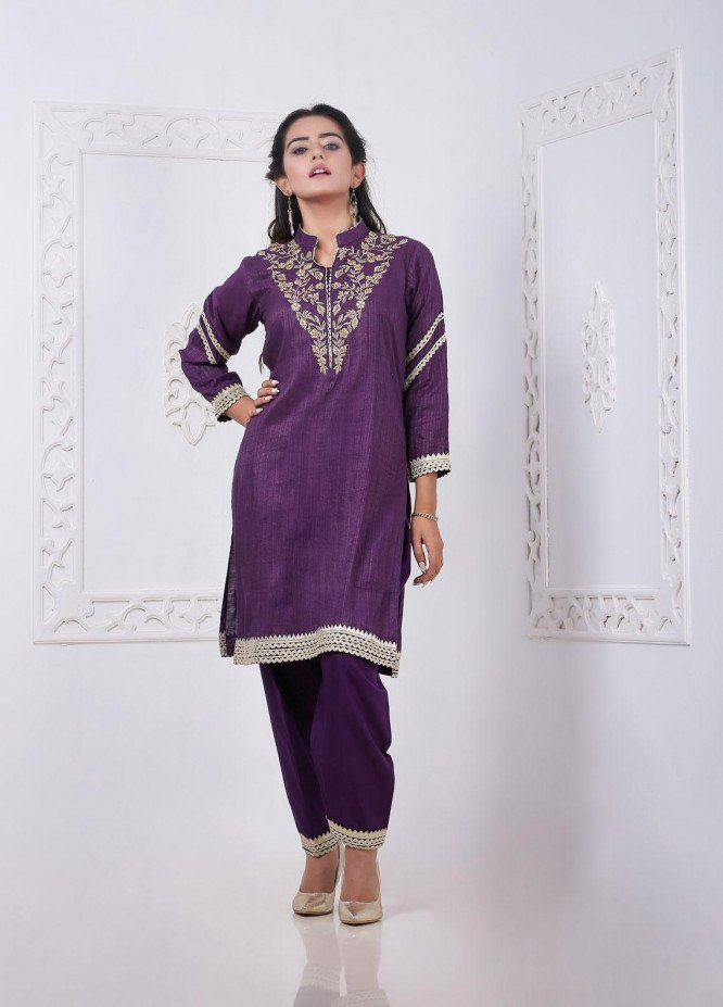 Sidra Mumtaz Embroidered Missouri Stitched 3 Piece Suit PURPUREA