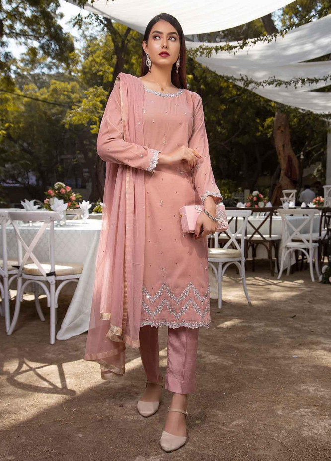Sidra Mumtaz Embroidered Raw Silk Stitched 3 Piece Suit SM20GS 2101-GM-05 AMERTINE