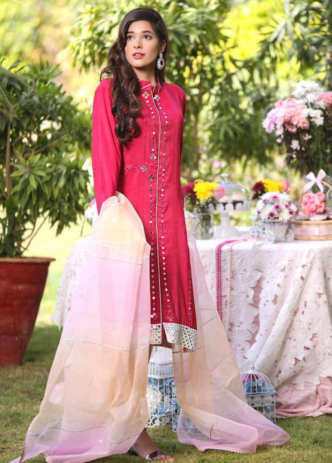 Sidra Mumtaz Embroidered Missouri Stitched 3 Piece Suit Razzmatazz