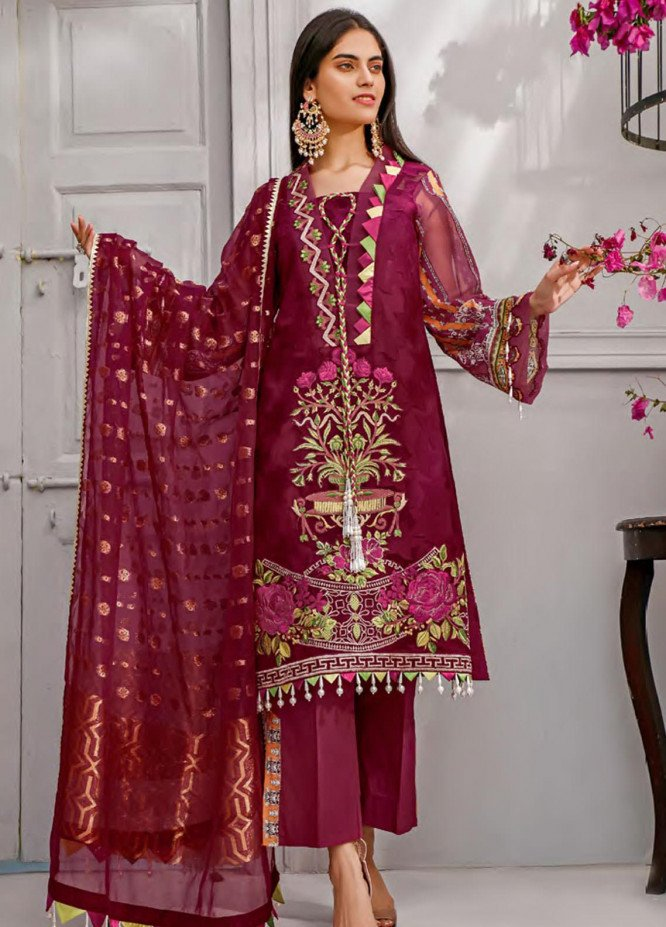 Sifona Embroidered Lawn Unstitched 3 Piece Suit SF20MJ SLL-07 - Luxury Collection