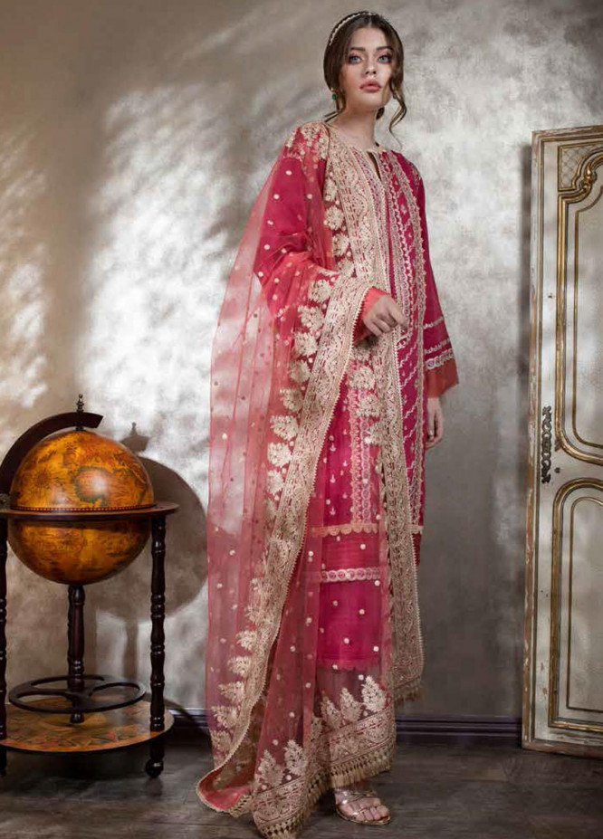 Sobia Nazir Embroidered Lawn Suits Unstitched 3 Piece SN21L 11A - Luxury Collection
