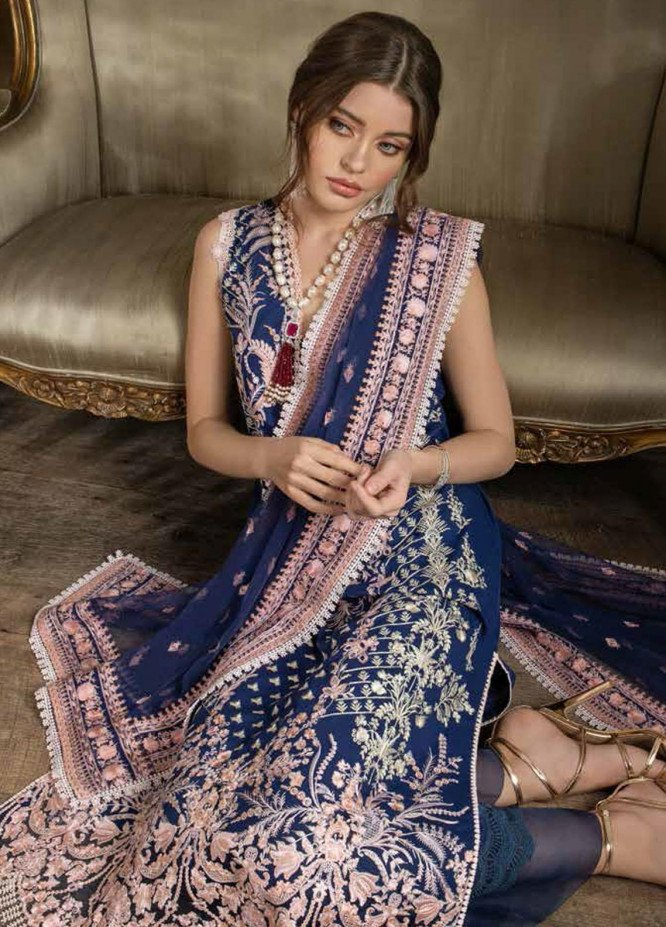 Sobia Nazir Embroidered Lawn Suits Unstitched 3 Piece SN21L 12B - Luxury Collection