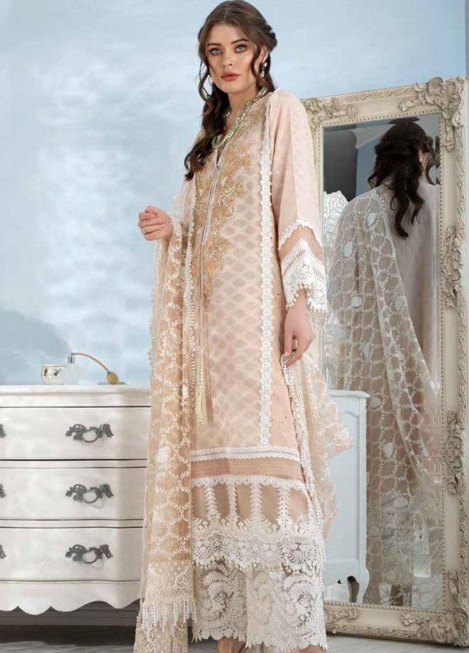 Sobia Nazir Embroidered Lawn Suits Unstitched 3 Piece SN21L 15A - Luxury Collection