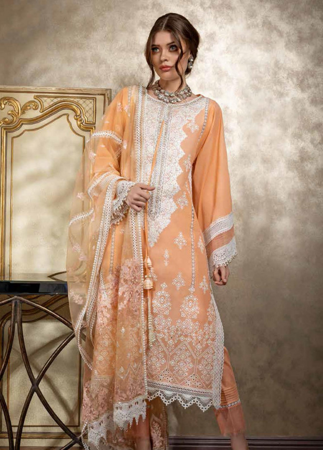 Sobia Nazir Embroidered Lawn Suits Unstitched 3 Piece SN21L 1A - Luxury Collection
