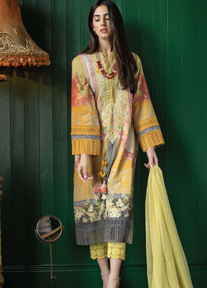 Vital By Sobia Nazir Embroidered Lawn Suits Unstitched 3 Piece SN21V 11B - Summer Collection