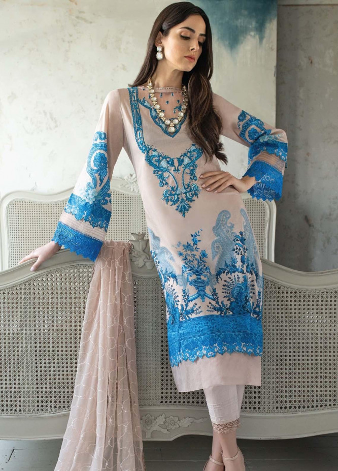 Vital By Sobia Nazir Embroidered Lawn Suits Unstitched 3 Piece SN21V 12A - Summer Collection