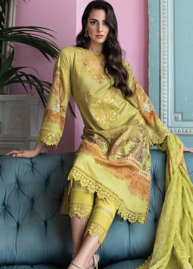 Vital By Sobia Nazir Embroidered Lawn Suits Unstitched 3 Piece SN21V 12B - Summer Collection
