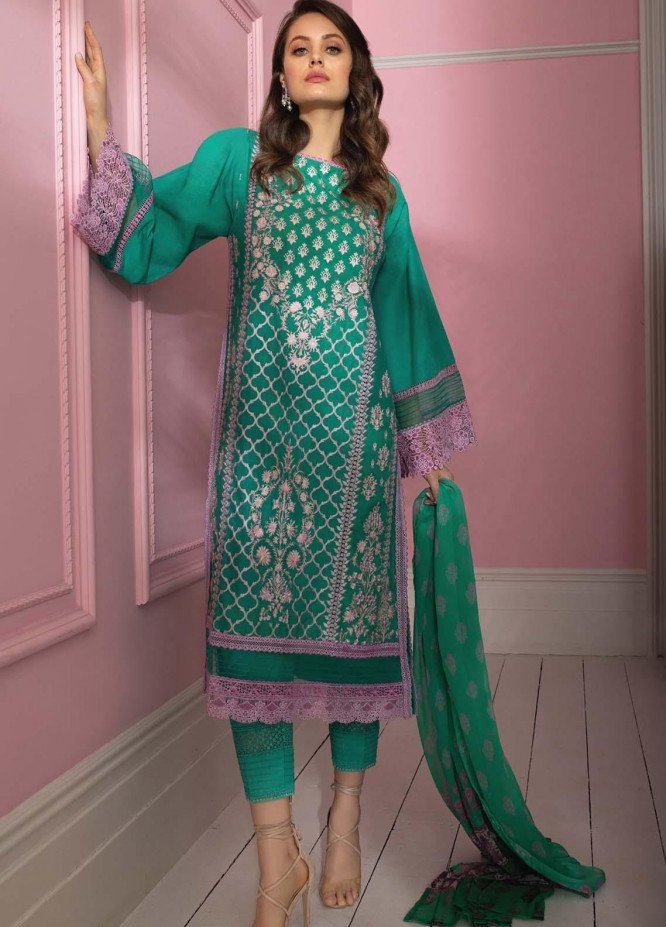 Vital By Sobia Nazir Embroidered Lawn Suits Unstitched 3 Piece SN21V 1B - Summer Collection