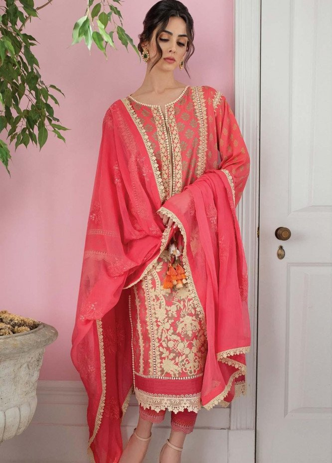 Vital By Sobia Nazir Embroidered Lawn Suits Unstitched 3 Piece SN21V 9B - Summer Collection