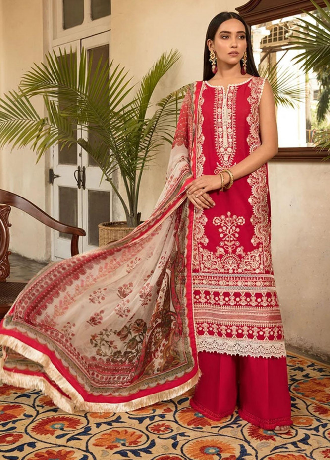 Vital By Sobia Nazir Embroidered Lawn Suits Unstitched 3 Piece SN21-V2 4B - Summer Collection