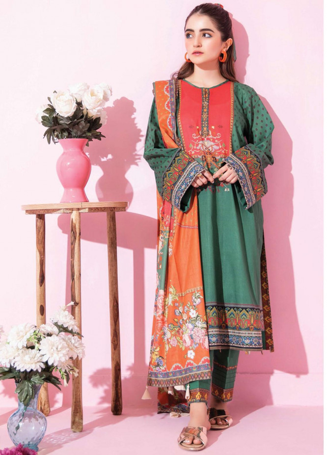 Spring Fling by Rang Rasiya Printed Lawn Suits Unstitched 3 Piece RR21SF 705 Watermelon - Summer Collection