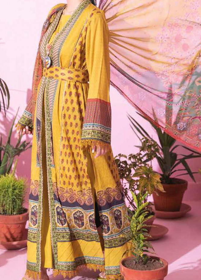 Spring Fling by Rang Rasiya Printed Lawn Suits Unstitched 3 Piece RR21SF 711 Lemonade - Summer Collection