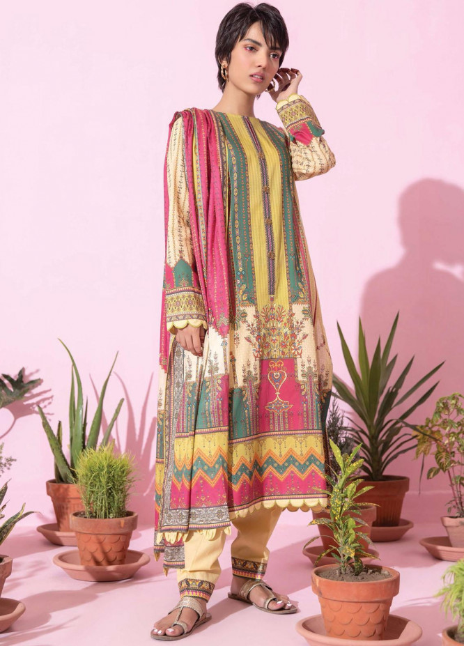 Spring Fling by Rang Rasiya Printed Lawn Suits Unstitched 3 Piece RR21SF 714 Golden Topaz - Summer Collection