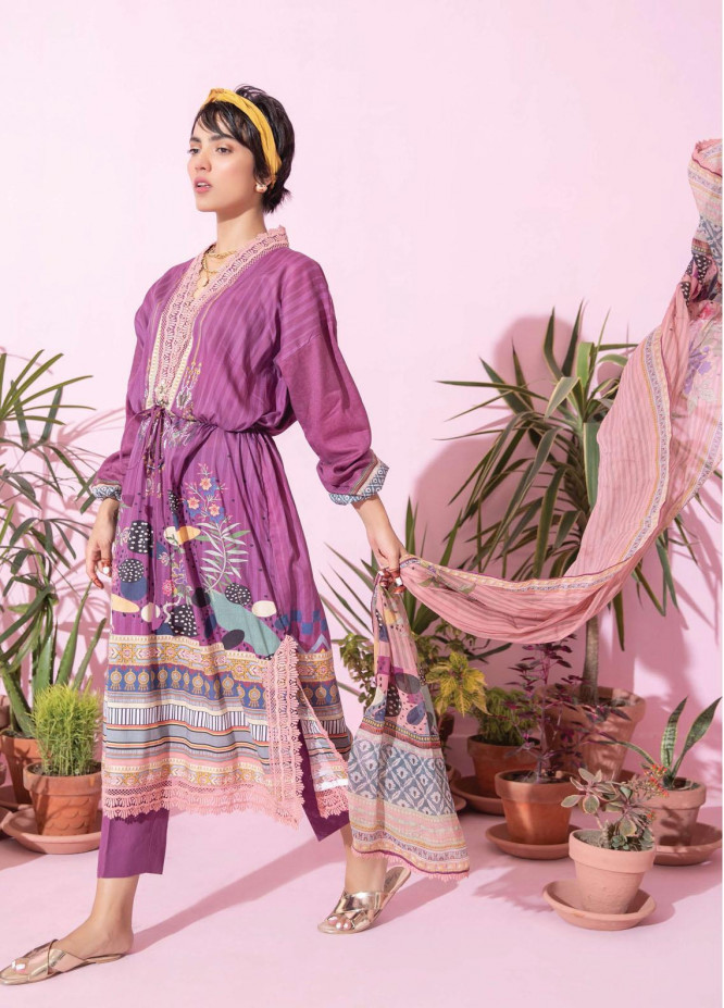 Spring Fling by Rang Rasiya Printed Lawn Suits Unstitched 3 Piece RR21SF 715 Berry Floral - Summer Collection