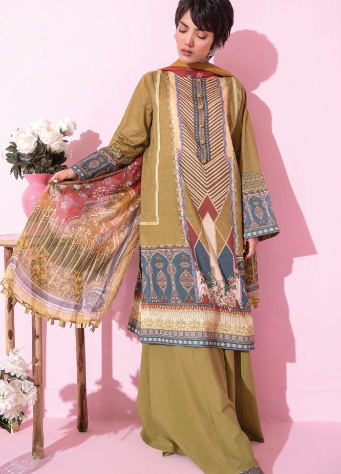 Spring Fling by Rang Rasiya Printed Lawn Suits Unstitched 3 Piece RR21SF 719 Olive Tree - Summer Collection