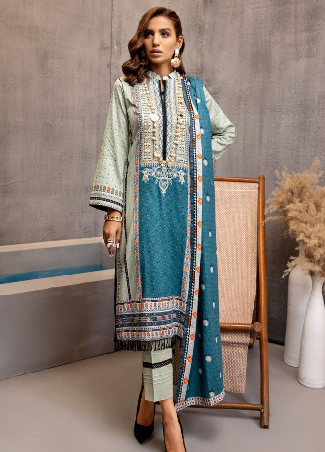 Subhhata Masakali by ZS Textiles Embroidered Lawn Suits Unstitched 3 Piece ZS21SM-2 D-05 - Summer Collection
