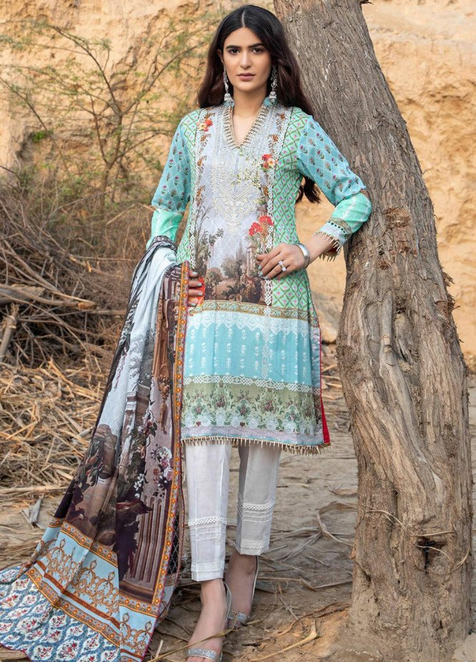 Subhhata Masakali by ZS Textiles Embroidered Lawn Suits Unstitched 3 Piece ZS21SM ZS-01 - Summer Collection
