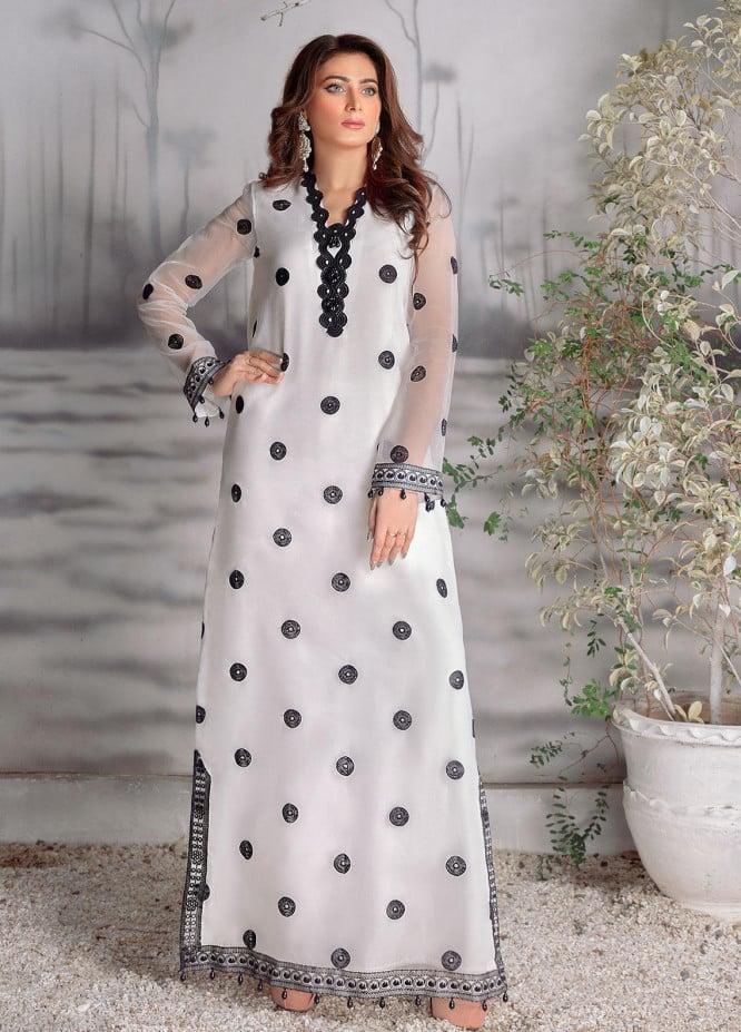 Surmai Luxury Pret Embroidered Organza 2 Piece Dress SLP-01