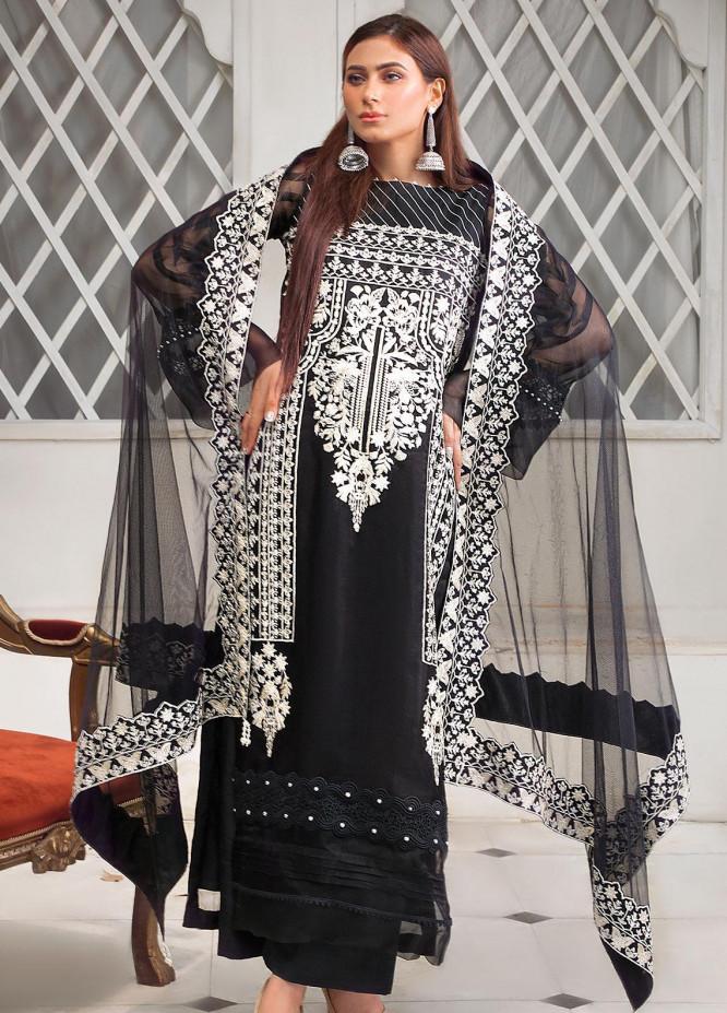 Surmai Luxury Pret Embroidered Organza 3 Piece Dress SLP-04