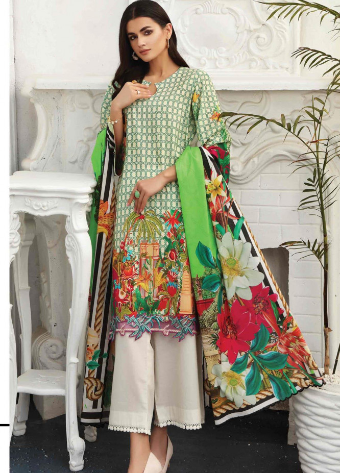 Taabir By Afsaneh Embroidered Lawn Suits Unstitched 2 Piece AFH21T Daariya B - Summer Collection