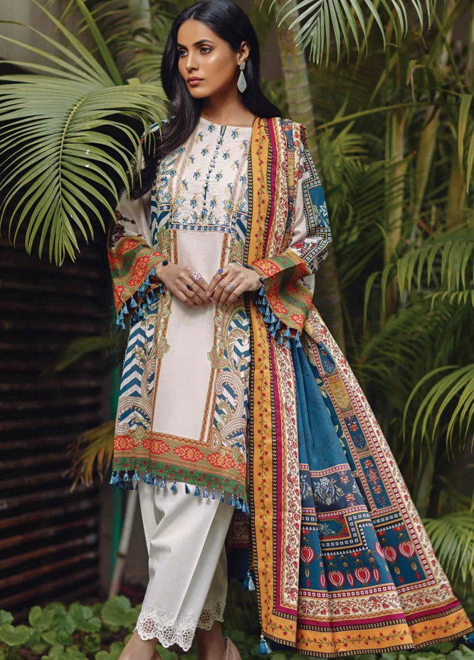 Taabir By Afsaneh Embroidered Lawn Suits Unstitched 3 Piece AFH21T Fardeen - Summer Collection